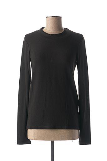 T-shirt manches longues noir COLINE pour femme