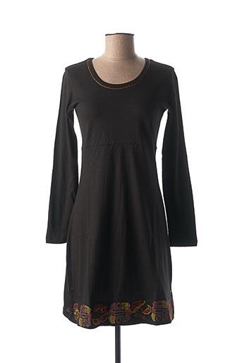 Robe mi-longue noir IPANIMA pour femme