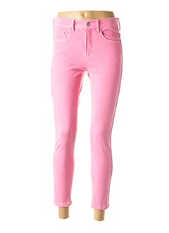 Pantalon casual rose ANNA MONTANA pour femme
