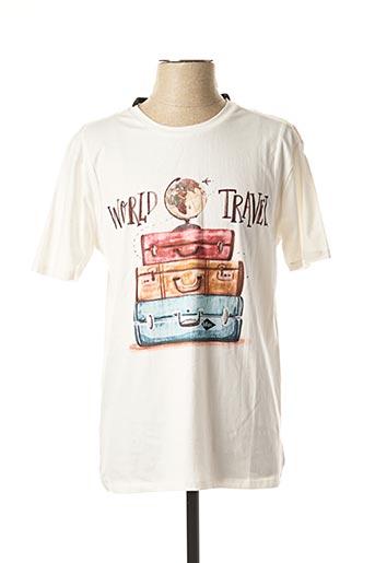 T-shirt manches courtes blanc LEE COOPER pour homme