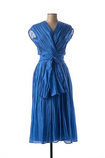 Robe mi-longue bleu BIANCO LEVRIN pour femme