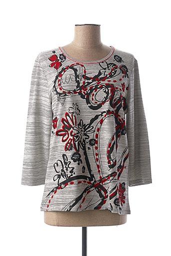 T-shirt manches longues gris LEBEK pour femme