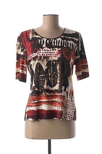 T-shirt manches longues marron LEBEK pour femme