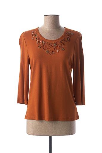 T-shirt manches longues orange LEBEK pour femme