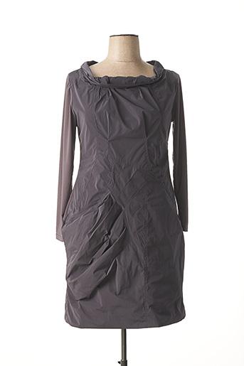 Robe mi-longue gris POUSSIERE D'ETOLE pour femme