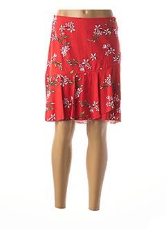Jupe mi-longue rouge STREET ONE pour femme