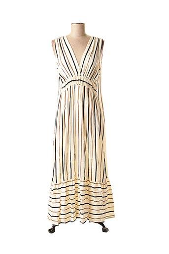 Robe mi-longue beige ELEONORA AMADEI pour femme