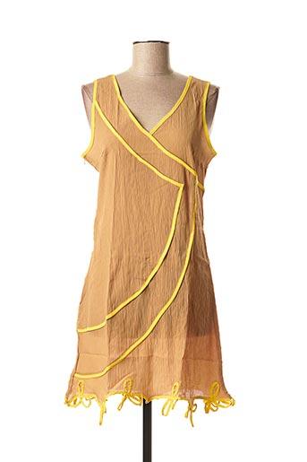 Tunique manches courtes jaune VIRGINIE & MOI pour femme