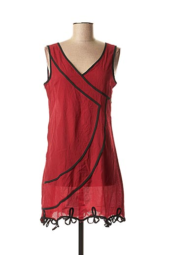Tunique manches courtes rouge VIRGINIE & MOI pour femme