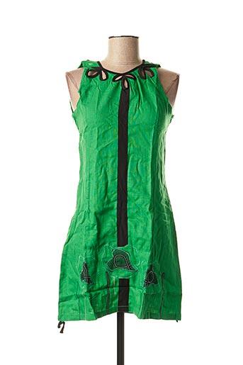 Tunique manches courtes vert VIRGINIE & MOI pour femme