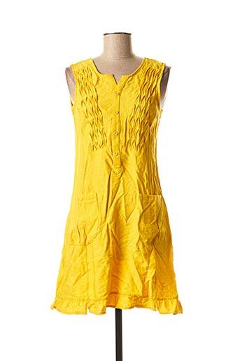 Tunique sans manche jaune L33 pour femme