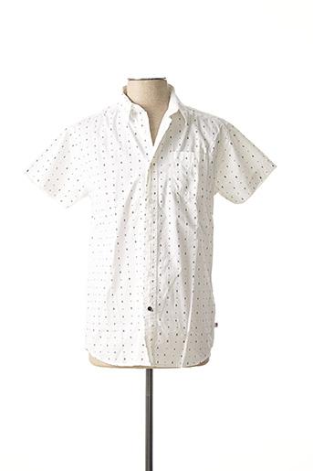 Chemise manches courtes blanc CBK pour homme