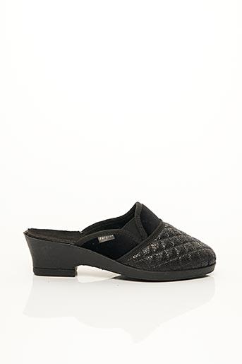 Chaussons/Pantoufles noir FARGEOT pour femme