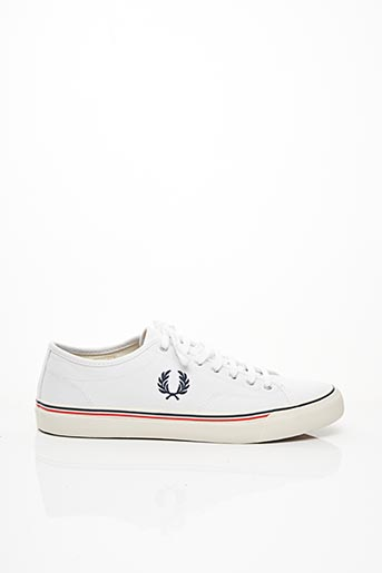 Baskets blanc FRED PERRY pour homme