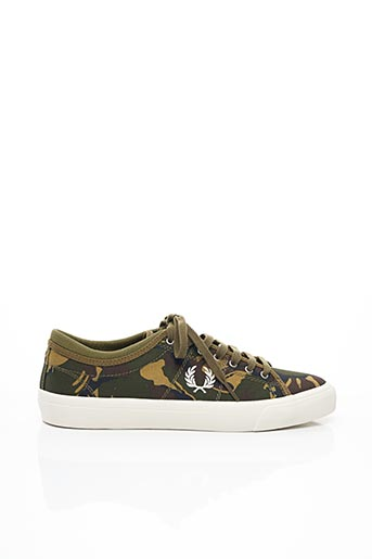 Baskets vert FRED PERRY pour homme