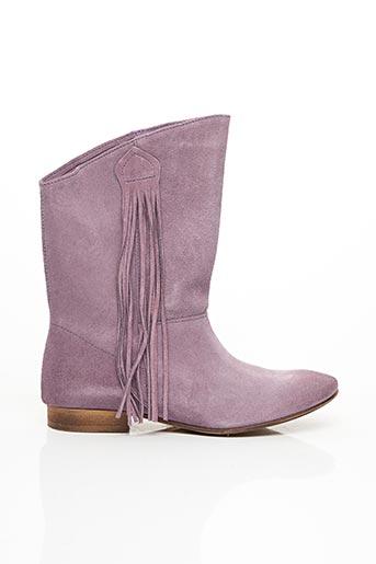 Bottes violet ETIK pour femme