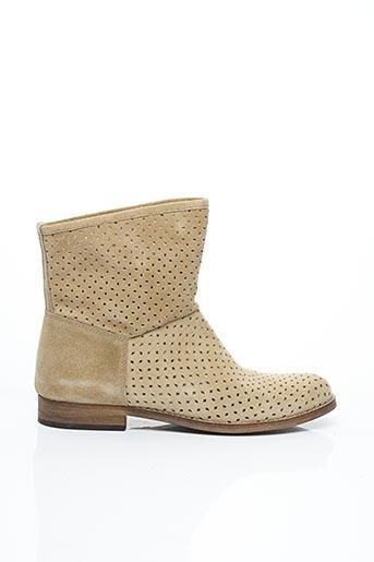 Bottines/Boots beige LA FEE MARABOUTEE pour femme