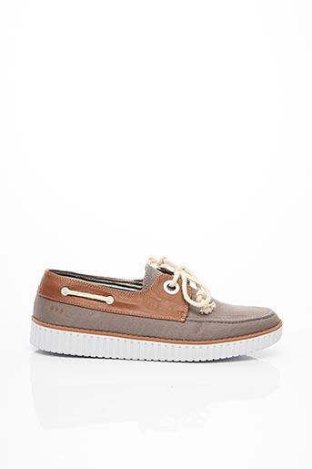 Chaussures bâteau beige ARMISTICE pour homme
