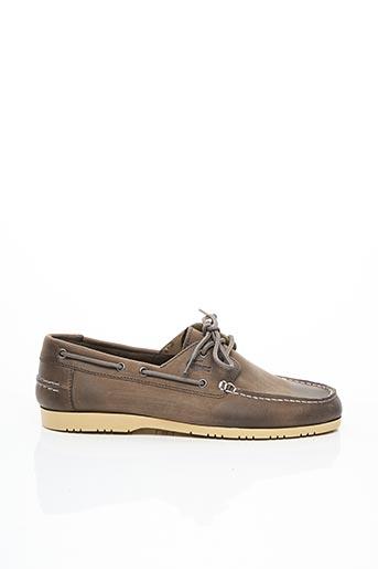 Chaussures bâteau beige LACOSTE pour homme