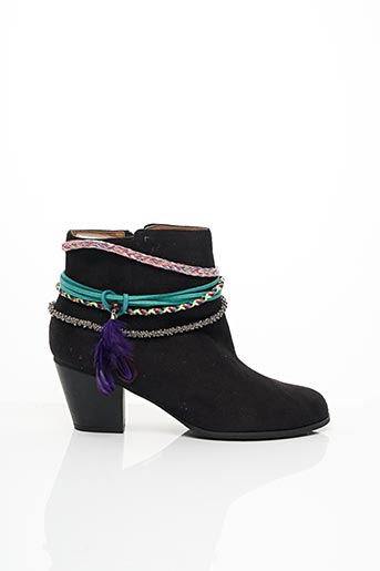 Bottines/Boots noir CHOCOLATE SCHUBAR pour femme