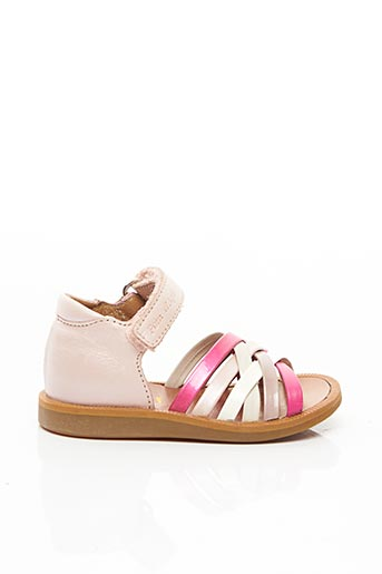 Sandales/Nu pieds rose POM D'API pour fille
