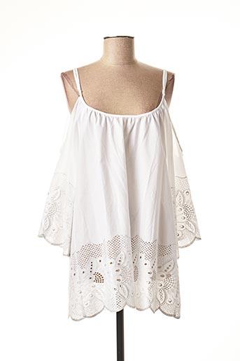 Tunique manches courtes blanc VALERIE KHALFON pour femme