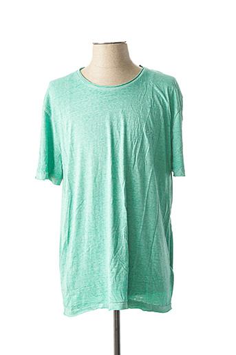 T-shirt manches courtes vert ELEVEN PARIS pour homme