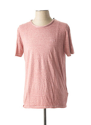 T-shirt manches courtes rose ELEVEN PARIS pour homme
