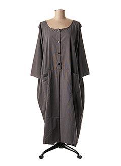 Robe longue gris BARBARA LANG pour femme