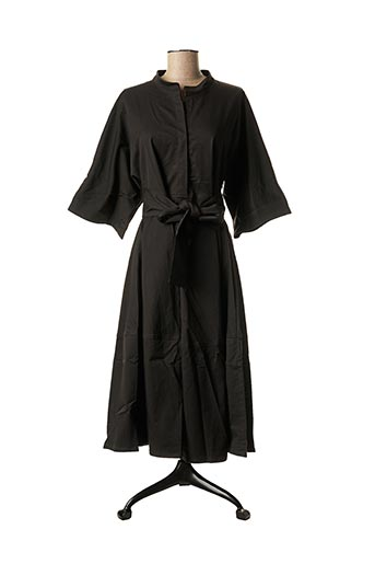 Robe mi-longue noir GRAND MORIN pour femme