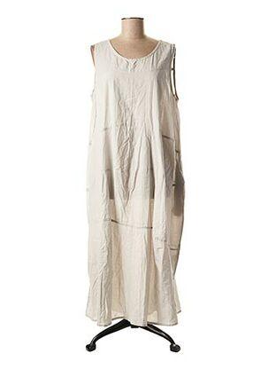 Robe mi-longue gris BARBARA LANG pour femme