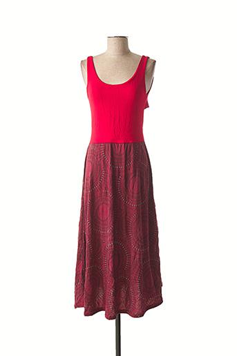 Robe longue rouge DIPAWALI pour femme