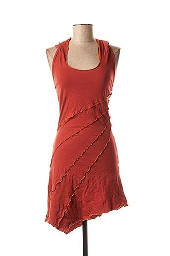 Tunique manches courtes rouge DIPAWALI pour femme