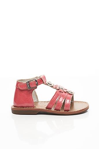 Sandales/Nu pieds rouge ASTER pour fille