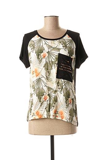 T-shirt manches courtes vert ET COMPAGNIE pour femme