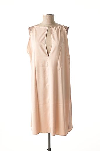 Robe mi-longue rose ADOREE pour femme