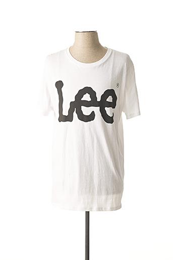 T-shirt manches courtes blanc LEE pour homme