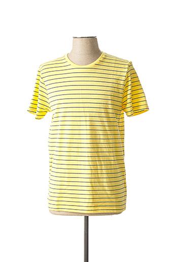 T-shirt manches courtes jaune BAKERS pour homme