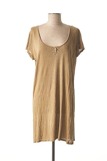 Robe mi-longue marron AMERICAN VINTAGE pour femme
