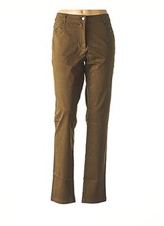 Pantalon casual vert MADO ET LES AUTRES pour femme