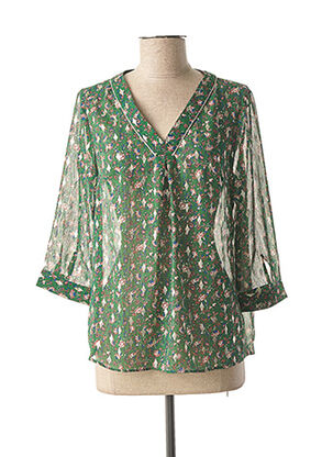 Blouse manches longues vert BY ONE pour femme