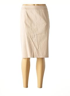 Jupe mi-longue beige GERRY WEBER pour femme