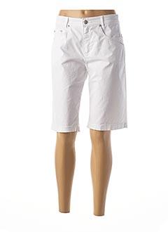 Bermuda blanc ANNA MONTANA pour femme