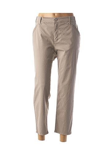Pantalon 7/8 beige GERRY WEBER pour femme