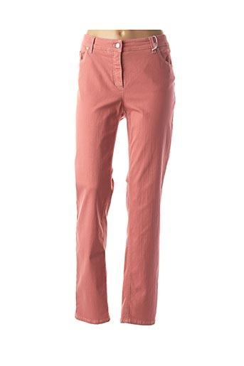 Pantalon casual rose GERRY WEBER pour femme