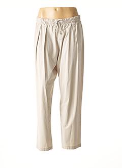 Pantalon casual beige CREA CONCEPT pour femme