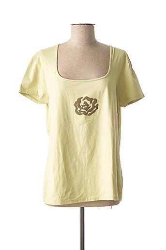T-shirt manches courtes vert BLEU DE SYM pour femme