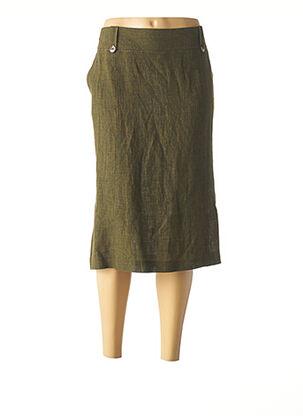 Jupe mi-longue vert DIANA GALLESI pour femme