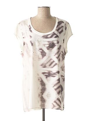 T-shirt manches courtes blanc DIANA GALLESI pour femme