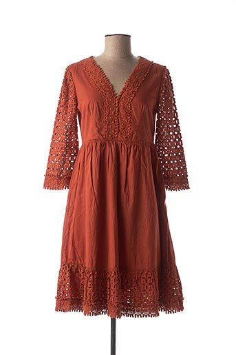 Robe mi-longue marron VOODOO pour femme